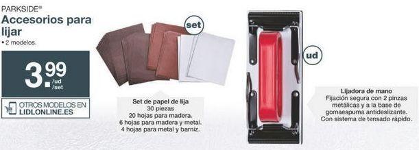 Oferta de Lija Parkside por 3.99€