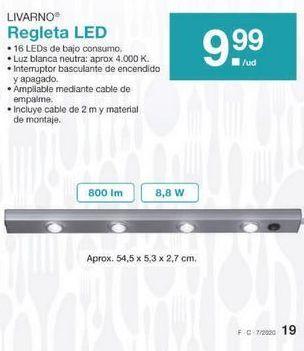 Oferta de Regleta Livarno por 9.99€