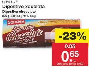Oferta de Galletas Digestive sondey por 0.65€