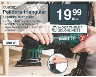 Oferta de Lijadora Parkside por 19.99€