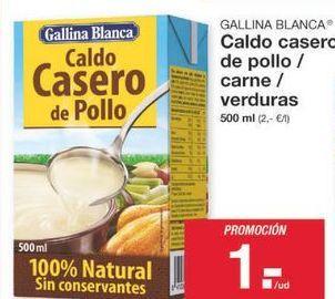 Oferta de Caldo casero Gallina Blanca por 1€