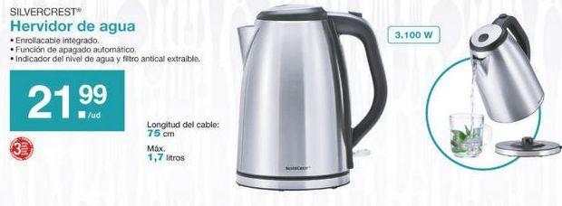 Oferta de Hervidor de agua SilverCrest por 21.99€