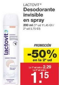 Oferta de Desodorante Lactovit por 1.72€