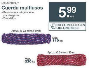 Oferta de Cuerda Parkside por 5.99€
