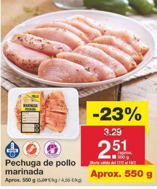 Oferta de Pechuga de pollo por 2.53€