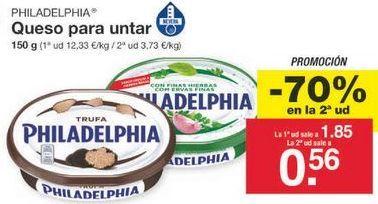 Oferta de Queso de untar Philadelphia por 1.2€