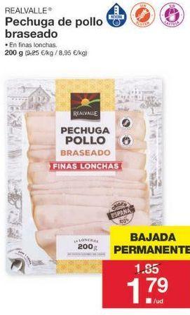 Oferta de Pechuga de pollo Realvalle por 1.79€