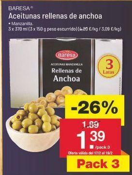 Oferta de Aceitunas rellenas Baresa por 1.4€