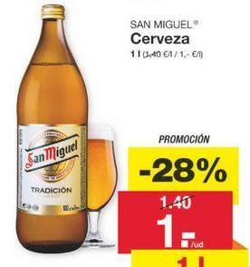 Oferta de Cerveza San Miguel por 1.01€