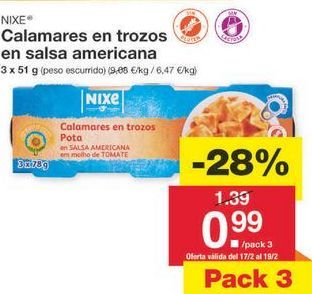 Oferta de Calamares nixe por 1.39€