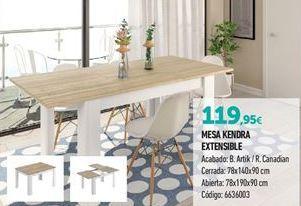 Oferta de Mesa extensible por 119,95€
