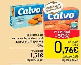 Oferta de Mejillones en escabeche o al natural  por 1.51€