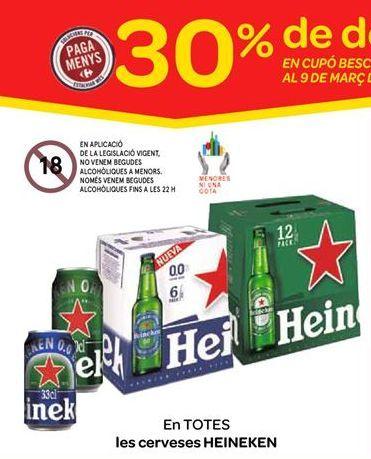 Oferta de Cervezas Heineken por