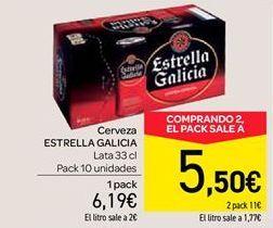 Oferta de Cerveza Estrella Galicia por 6.19€