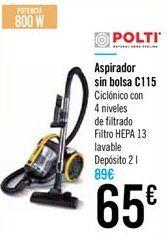Oferta de Aspirador sin bolsa C115 por 65€