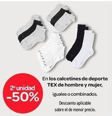 Oferta de Calcetines de deporte TEX de hombre y mujer por