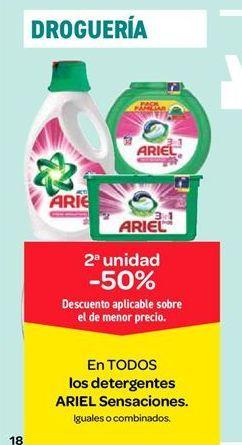 Oferta de Detergente Ariel sensaciones por