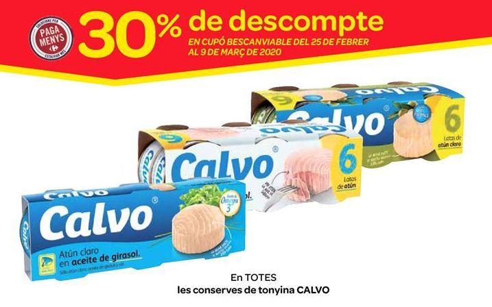 Oferta de Conservas de atún Calvo por