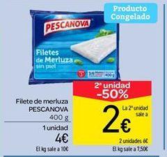 Oferta de Filetes de merluza Pescanova por 4€