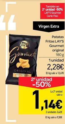 Oferta de Patatas fritas Lay's gourmet original por 2.28€