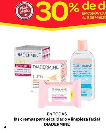 Oferta de Cremas para el cuidado y limpieza facial por