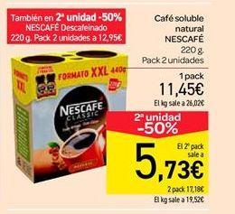 Oferta de Café soluble natural por 11.45€