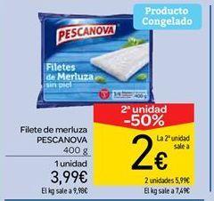 Oferta de Filetes de merluza Pescanova por 3.99€