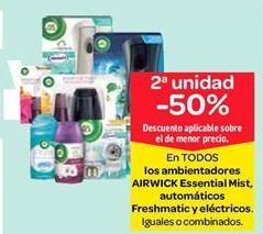 Oferta de Ambientadores AirWick Essential Mist, automáticos Freshmatic y eléctricos por
