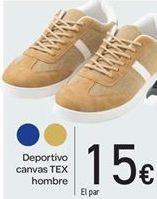 Oferta de Deportivo canvas TEX hombre por 15€