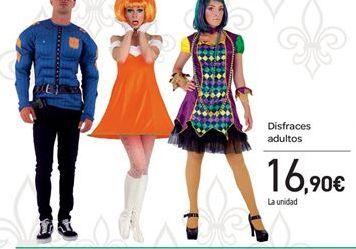 Oferta de Disfraces adultos por 16.9€