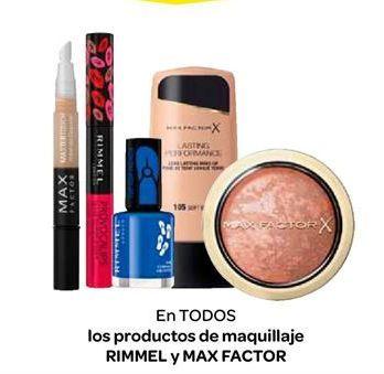 Oferta de En TODOS los productos de maquillaje RIMMEL y MAX FACTOR por