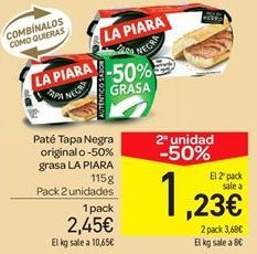 Oferta de Paté tapa negra original o 50% grasa  por 2.45€