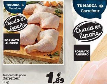 Oferta de Traseros de pollo Carrefour por 1.89€