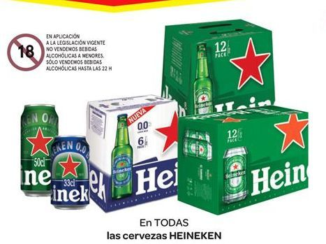Oferta de En TODAS las cerveza Heineken por