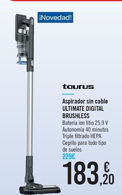 Oferta de Aspirador sin cable ULTIMATE DIGITAL BRUSHLESS por 183.2€