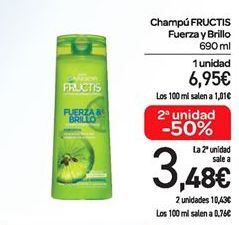 Oferta de Champú Fructis fuerza y brillo por 6.95€