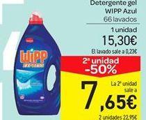 Oferta de Detergente gel Wipp por 15.3€
