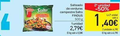 Oferta de Salteado de verduras campestre Salto FINDUS por 2.79€