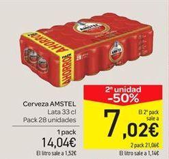 Oferta de Cerveza Amstel por 14.04€