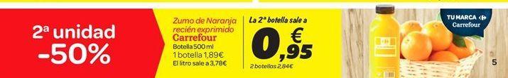 Oferta de Zumo de Naranja recién exprimido Carrefour por 1.89€