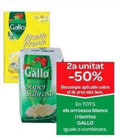Oferta de En TODOS los arroces blancos y risotto GALLO por