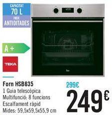 Oferta de Horno HSB635 por 249€