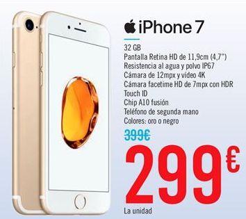 Oferta de Iphone 7 por 299€