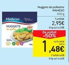 Oferta de Nuggets de pollo Maheso por 2.95€