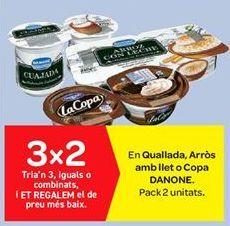 Oferta de En Cuajada, Arroz con leche o Copa DANONE por