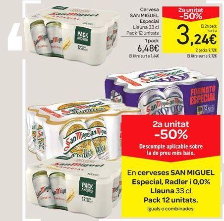 Oferta de Cervezas San Miguel especial, Radler y 0.0% por 6.48€