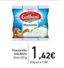 Oferta de Mozzarella Galbani por 1.42€