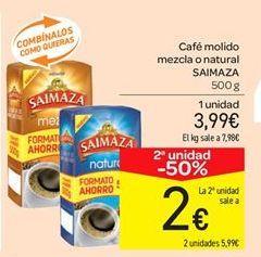 Oferta de Café molido mezcla o natural SAIMAZA por 3.99€