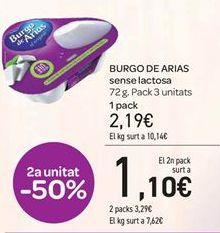 Oferta de BURGO DE ARIAS sin lactosa  por 2.19€