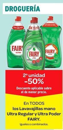 Oferta de En TODOS los lavavajillas mano Ultra Regular y Ultra Poder FAIRY por